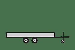 Anhänger mieten: PKW-Hochlader, Hochlader HLB-311620, PKW-Hochlader Icon, Zeichnung von PKW-Hochlader, Hintergrund transparent