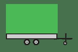 Anhänger mieten: PKW-Hochlader, Hochlader HLB-333620P16, PKW-Hochlader Icon, Zeichnung von PKW-Hochlader, Hintergrund transparent