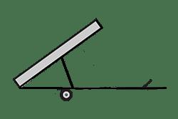 Anhänger mieten: PKW-Kipper, Kipper KRB-251511HL, PKW-Kipper Icon, Zeichnung von PKW-Kipper, Hintergrund transparent