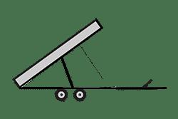 Anhänger mieten: PKW-Kipper, Kipper KRB-311620EL, PKW-Kipper Icon, Zeichnung von PKW-Kipper, Hintergrund transparent