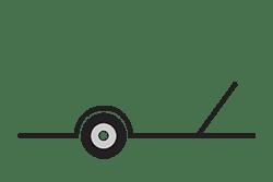 Anhänger mieten: PKW-Motorradanhänger, Motorradanhänger MOB-191110, PKW-Motorradanhänger Icon, Zeichnung von PKW-Motorradanhänger, Hintergrund transparent