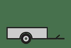 Anhänger mieten: PKW-Tieflader, Tieflader TLB-251313, PKW-Tieflader Icon, Zeichnung von PKW-Tieflader, Hintergrund transparent
