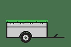 Anhänger mieten: PKW-Tieflader, Tieflader TLB-251313BF, PKW-Tieflader Icon, Zeichnung von PKW-Tieflader, Hintergrund transparent